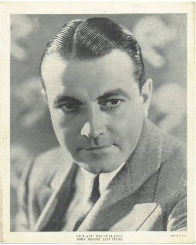 A more mature Richard Barthelmess on a 1936 R95 8x10 Linen Portrait