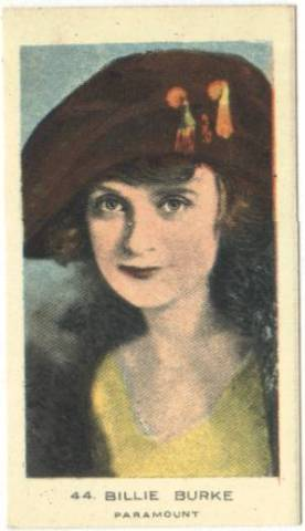 c. 1922 Billie Burke Color Tobacco Card from the UK