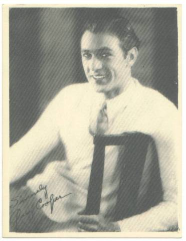1920's Kashin Fan Photo of Gary Cooper