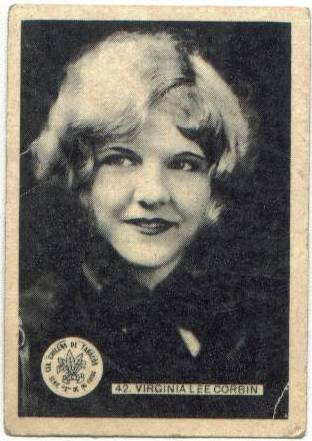 1930's Virginia Lee Corbin Z-Series Tobacco Card from Chile