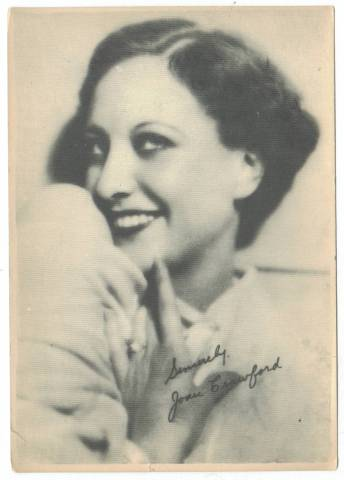 Late 1920's-Early 1930's Joan Crawford 5x7 Fan Photo