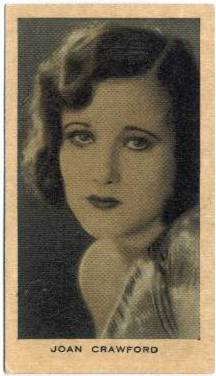 1928 Joan Crawford Wills Film Favourites Tobacco Card
