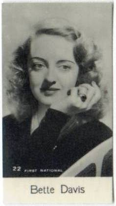 1930's Bette Davis Bridgewater Trading Card