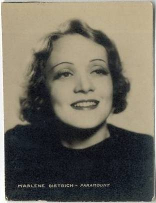 1934 Marlene Dietrich Real Photo Trading Card