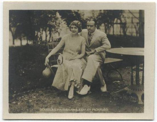 1923 Douglas Fairbanks and Mary Pickford Picturegoer at Home Photo Card