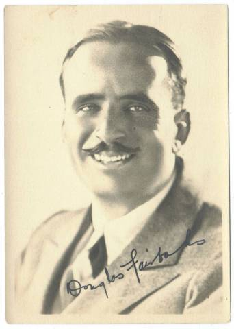 1920's Douglas Fairbanks 5x7 Fan Photo
