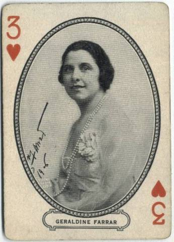 Geraldine Farrar - 1916 MJ Moriarty Playing Card