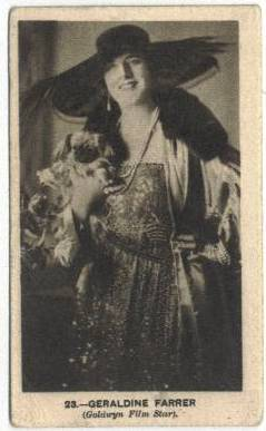 Geraldine Farrar - 1923 B. Morris and Sons Tobacco Card
