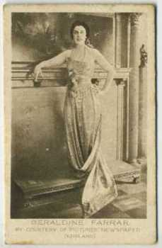 Geraldine Farrar - 1926 Bucktrout and Co Tobacco Card