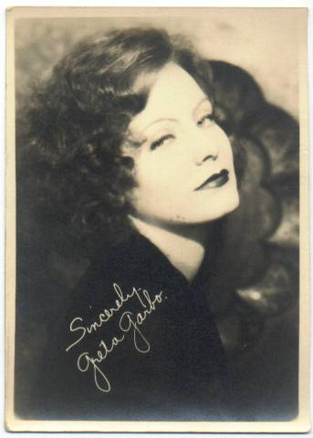1920's Greta Garbo 5x7 Fan Photo