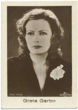 1930's Greta Garbo A. Batschari Mercedes Tobacco Card
