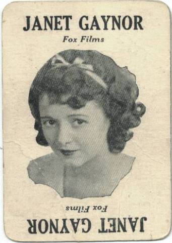 1929 Janet Gaynor Movie-Lane Keeno Game Card