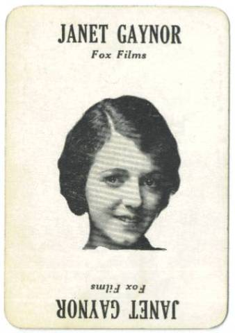 Early 1930's Janet Gaynor Movie-Land Keeno Game Card