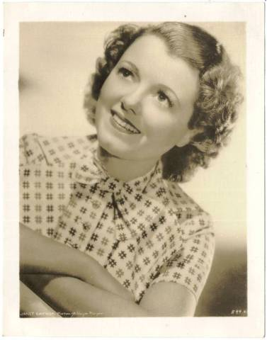 1934 Watkins-MGM Janet Gaynor 4x5 Promotional Photo