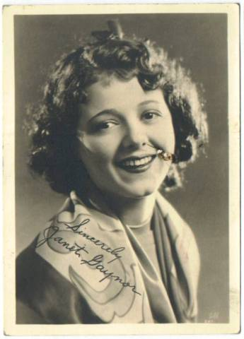 1930's Janet Gaynor 5x7 Fan Photo