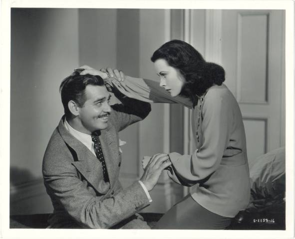 Real 1940 Silver Gelatin Photo of Clark Gable clowning with Hedy Lamarr