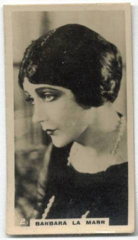 1925 Barbara LaMarr Lambert and Butler Tobacco Card