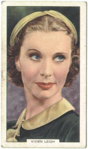 1939 Vivien Leigh Gallahers Tobacco Card