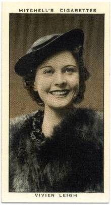1936 Vivien Leigh Mitchell's Tobacco Card
