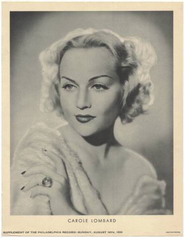 1936 M23 Carole Lombard Philadelphia Supplement