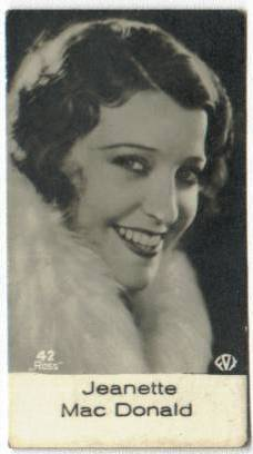 Early 1930's Jeanette MacDonald Salem Tobacco Card