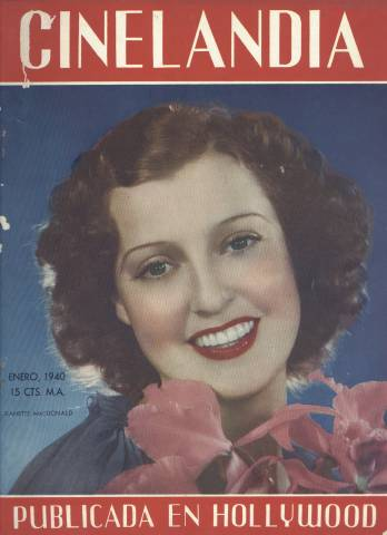 January 1940 issue of Cinelandia featuring Jeanette MacDonald on the cover