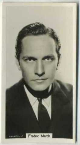Fredric March 1939 RJ Lea Tobacco Card