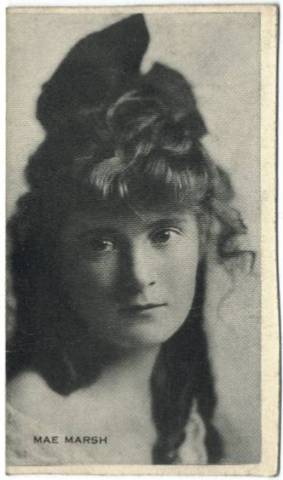 1915-16 Black & White American Trading Card featuring Mae Marsh