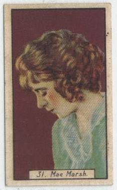 1930 Mae Marsh BAT Cinema Stars Tobacco Card