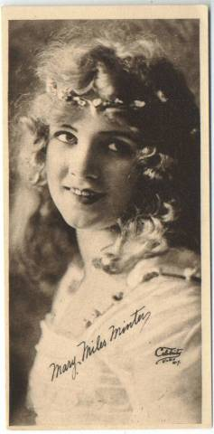 1916 Mary Miles Minter Water Color Premium Photo