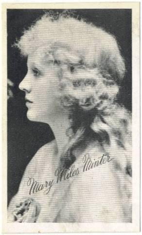 1917 Mary Minter Miles Kromo Gravure Trading Card
