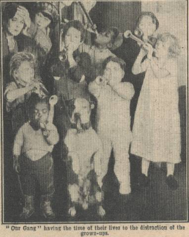 Our Gang photo from inside Picture Show Magazine January 26, 1924