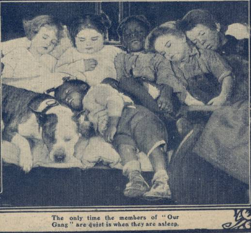 Our Gang cover photo from Picture Show Magazine January 26, 1924