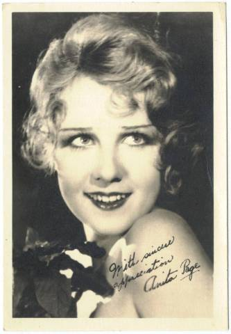1920's Anita Page 5x7 Fan Photo