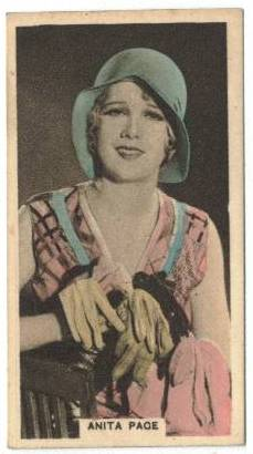 1934 Anita Page Cavenders Tobacco Card