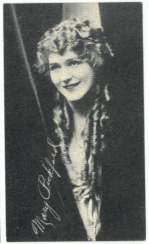 1917 Mary Pickford Kromo Gravure No Borders Trading Card