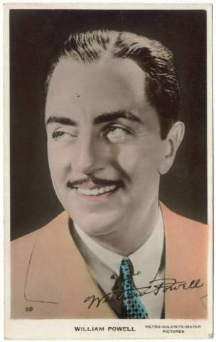 1930's William Powell Color Tinted Real Photo Postcard