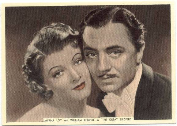 1936 William Powell & Myrna Loy Ardath Tobacco Card