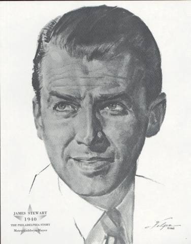 James Stewart Best Actor 1940 Volpe Print from 1962
