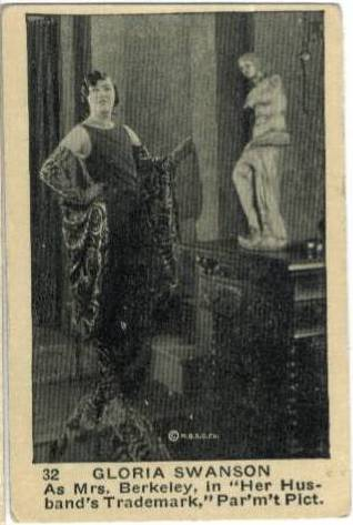1923 Gloria Swanson Neilson's Chocolates Card