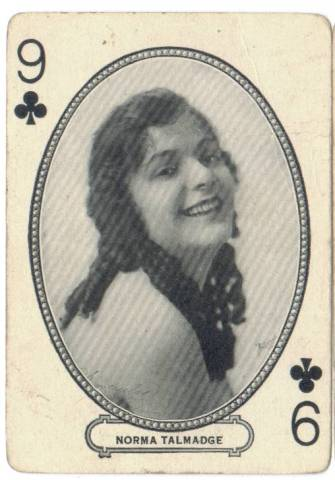 1916 MJ Moriarity Playing Card featuring Norma Talmadge