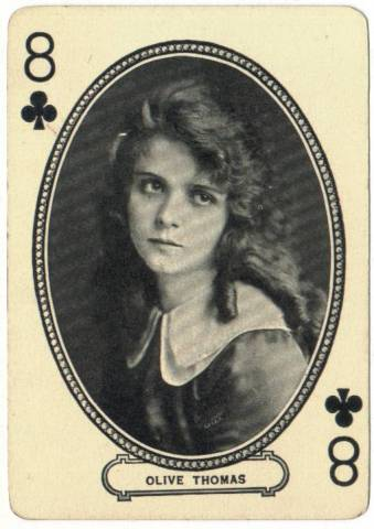 1916 Olive Thomas MJ Moriarty Playing Card