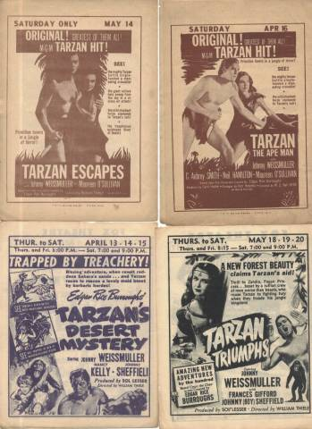 Programs featuring Johnny Weissmuller as Tarzan the Ape Man