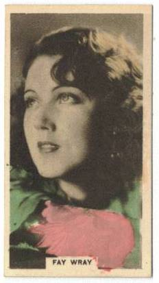 1934 Fay Wray Cavenders Tobacco Card