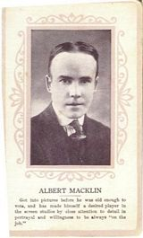 Circa 1915 Albert Macklin Ornate Pink Border Trading Card