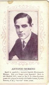 Circa 1915 Antonio Moreno Ornate Pink Border Trading Card