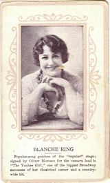 Circa 1915 Blanche Ring Ornate Pink Border Trading Card