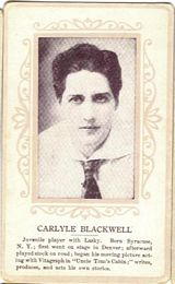 Circa 1915 Carlyle Blackwell Ornate Pink Border Trading Card