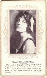 Circa 1915 Claire McDowell Ornate Pink Border Trading Card