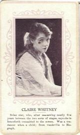 Circa 1915 Claire Whitney Ornate Pink Border Trading Card